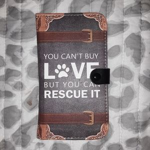 AWESOME DOG RESCUE PHONE WALLET CASE